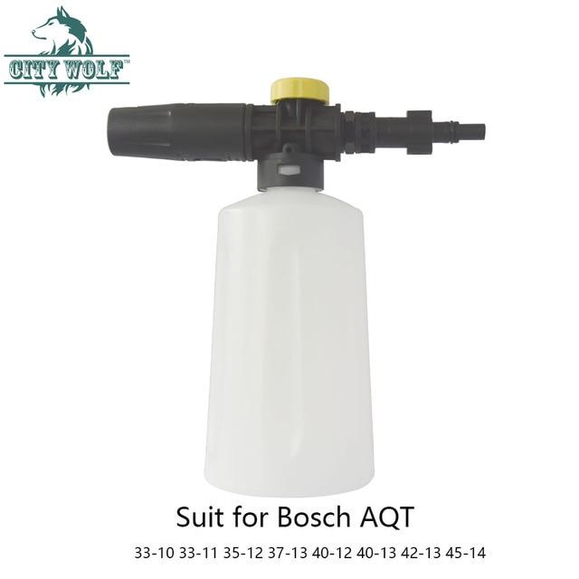 City wolf high pressure washer 750ML snow foam lance for bosch AQT33 10 33 11 35 12 37 13 40 12 40 13 42 13 45 14 car washer
