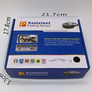 Image 5 - Voz humana com engilsh sensor de estacionamento do carro para todos os carros reverso assistência radar backup sistema monitor com 4 sensor