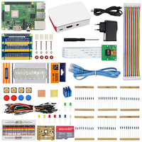 Raspberry Pi 3 Starter Kit Raspberry Pi 3B or 3B Plus with SD Card ABS Case Power Adapter 5MP Video Camera with Retail Box Pi3