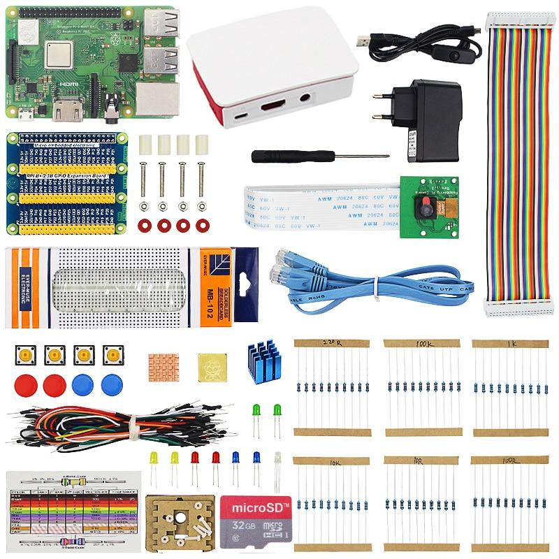 Starter Kit Raspberry Pi Raspberry Pi 3 3B ou 5MP 3B Plus com ABS Caso de Cartão SD Adaptador de Energia Vídeo câmera com Caixa de Varejo Pi3