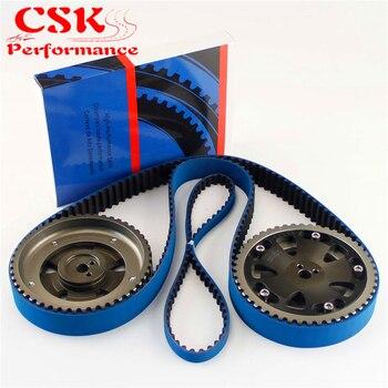 Da corsa Cinghia di Distribuzione + Balance + Cam Gear Adatto Per EVO 1-9 Eclipse DSM 4G63 92-06 grigio/Blu/Rosso/Argento