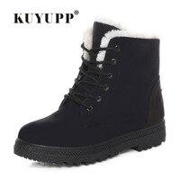 Fashion Snow Boots Winter Ankle Boots Women Shoes Plus Size Shoes 2016 Warm Plus Flat Heels