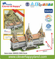 New 2014 Clever&Happy 3d puzzle Chakri Maha Prasat Throne Hall (Thailand) adult drawings learning & education