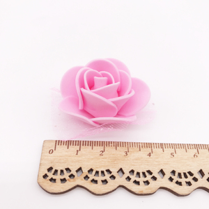 Image 5 - 100Pcs/lot Handmade PE Foam Rose Flowers Wedding Party Home Decor Accessories Artificial Craft Flower Head Wreath Supplies