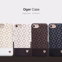 НОВЫЙ Nillkin Oger Чехол для Apple iphone 7 ИСКУССТВЕННАЯ Кожа задняя Крышка для Apple iphone 7 случае 4.7 дюймов работать с автомобильный держатель магнитный