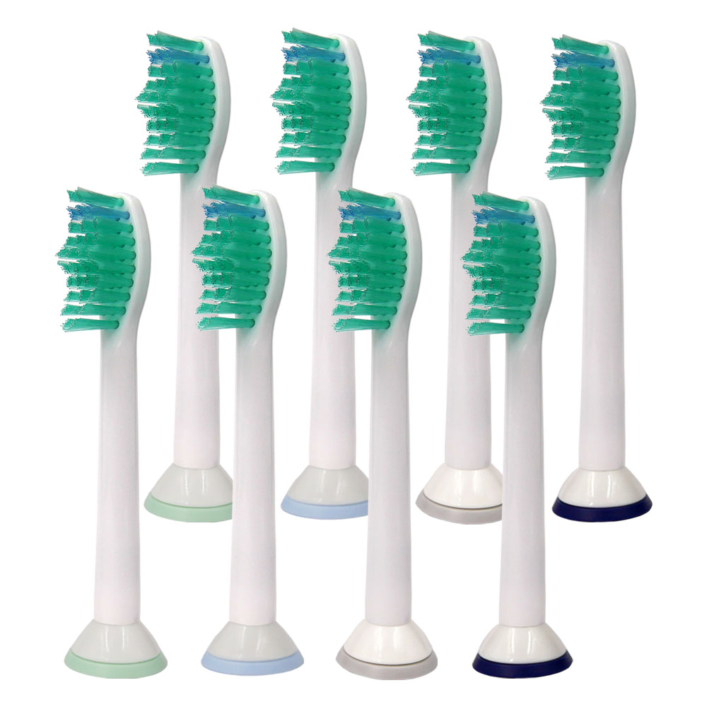 8PCS Replacement Toothbrush Heads HX6014 for Philips Sonicare ProResults HX6013 HX6530 HX6930 HX6950 HX6730 HX3110 HX6721 6512 image