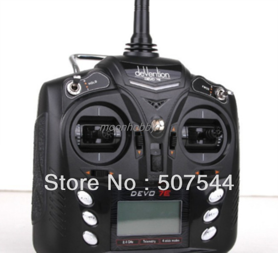 Walkera devo 7e 7ch Transmitter Walkera Devention 7E  Radio  free shipping with tracking original walkera devention receiver rx1002 2 4ghz 10 channel 10ch for devo10 tx compatible with devo 7 7e 8s 12s