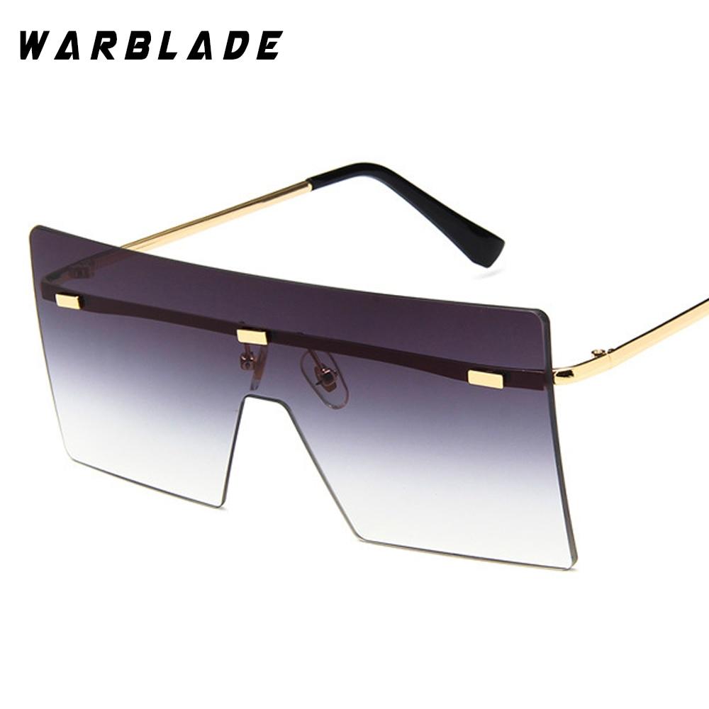 WarBLade böyük bir parça lens gözlük qadınlar kvadrat mavi - Geyim aksesuarları - Fotoqrafiya 5