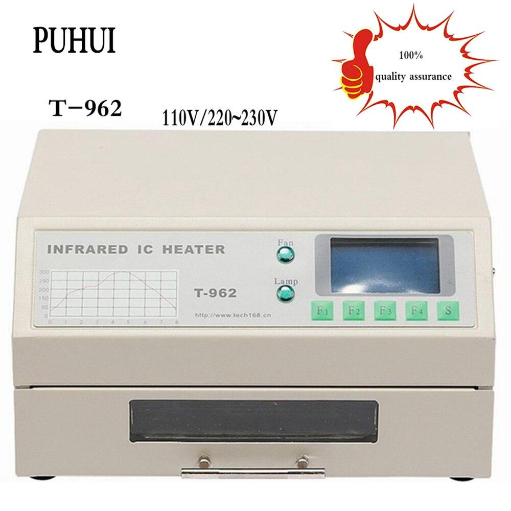 free delivery T-962 Infrared IC Heater T962 Desktop Reflow Solder Oven BGA SMD SMT Rework Station T 962 Reflow Wave Oven цена