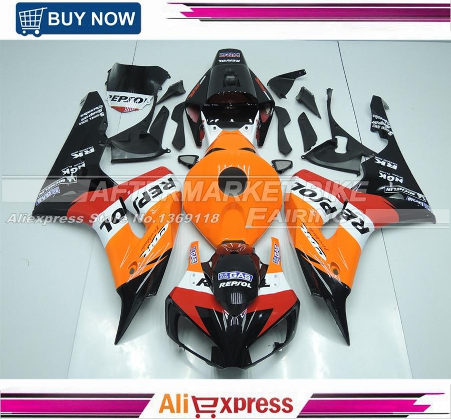 2006 2007 CBR1000RR Bodywork For Honda Fairings kits Orange Repsol HRC