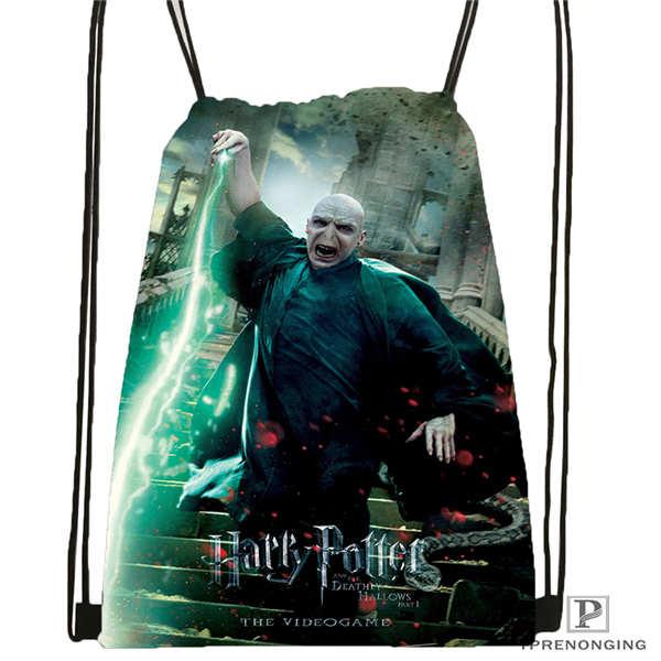 Custom Harry-potter Drawstring Backpack Bag Cute Daypack Kids Satchel (Black Back) 31x40cm#2018612-02-13