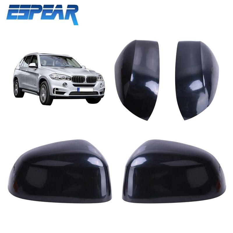 ФОТО 2PCS OEM Side Door Mirror Rearview Cover Cap Left & Right for BMW F15 F16 F26 F25 X3 X4 X5 X6 Series Car-styling #3033