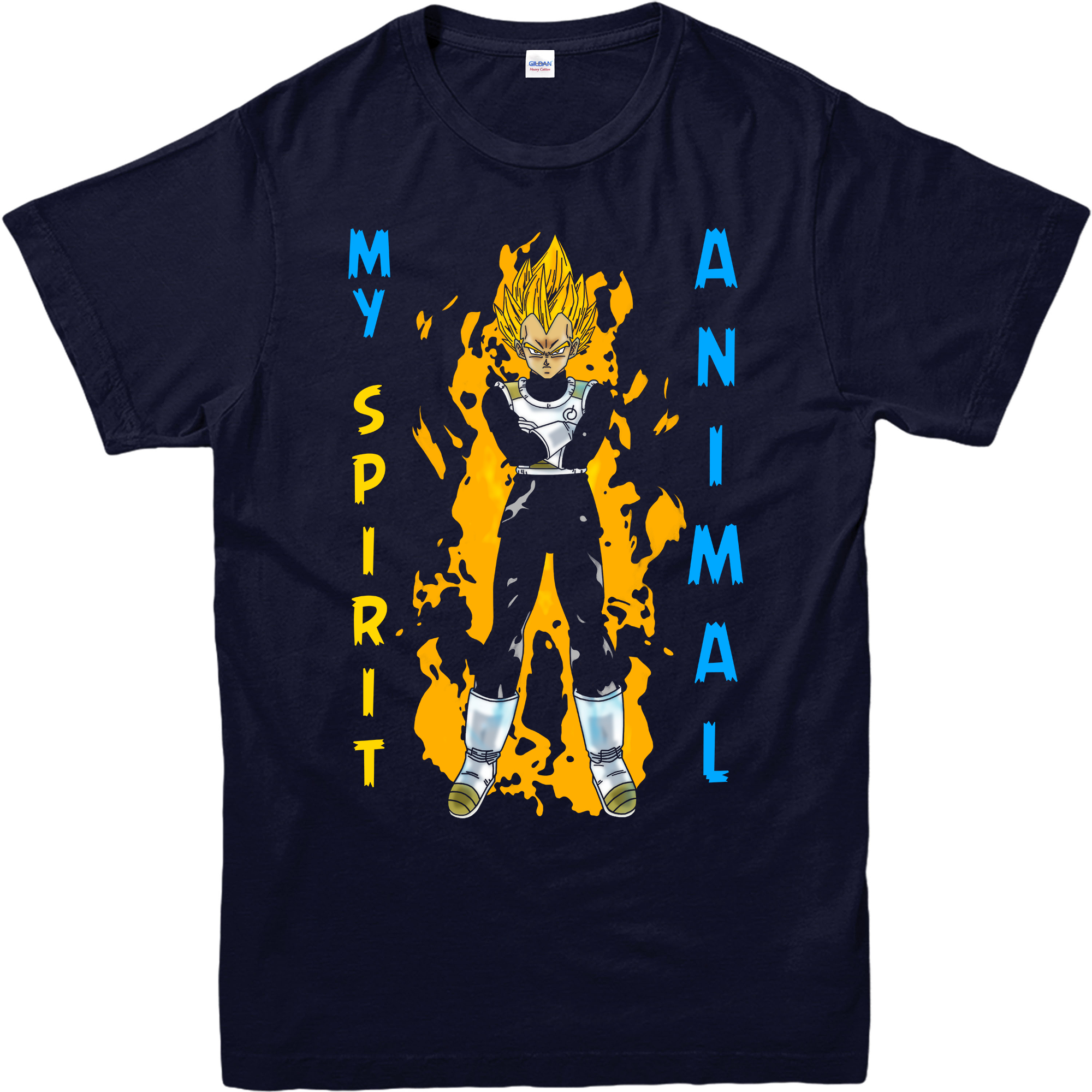 vegeta is my spirit animal T Shirt dragon ball Z goku Japanese Comics top Free shipping Harajuku Tops Fashion Classic Unique in T Shirts from Men 39 s Clothing