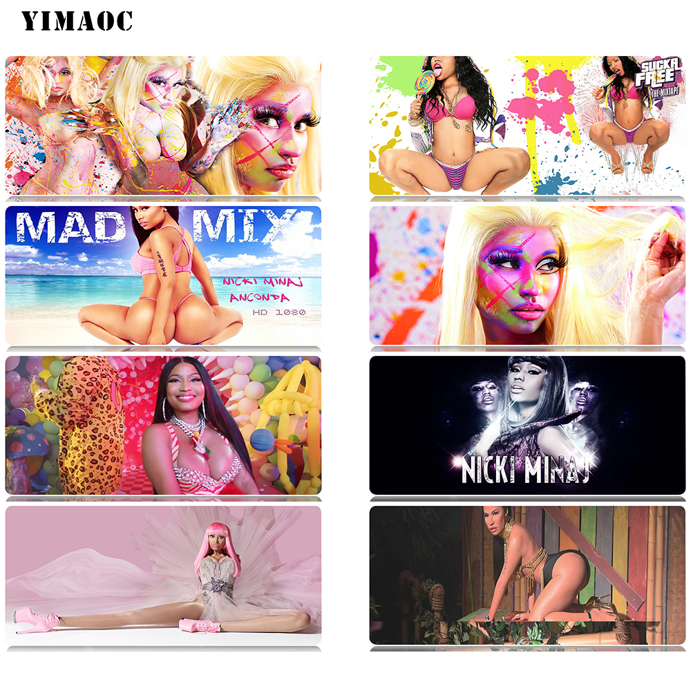 YIMAOC Nicki Minaj Mouse Pad 30x80 cm Computer Mousepad Anti slip Natural Rubber Gaming Mouse Mat in Mouse Pads from Computer Office