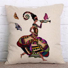 Sofa Pillow Cases with African Motives