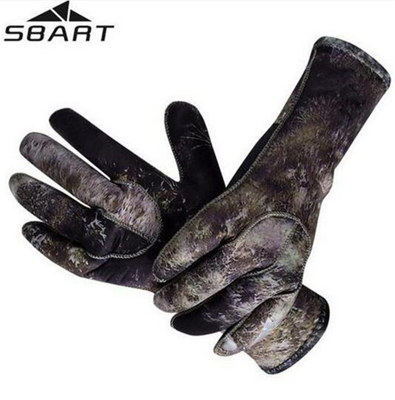 SBART 3MM Neoprene Snorkeling Gloves Men Anti Scratch Jellyfish Winter Warm Gloves for Skiing Diving Spearfishing Equipment