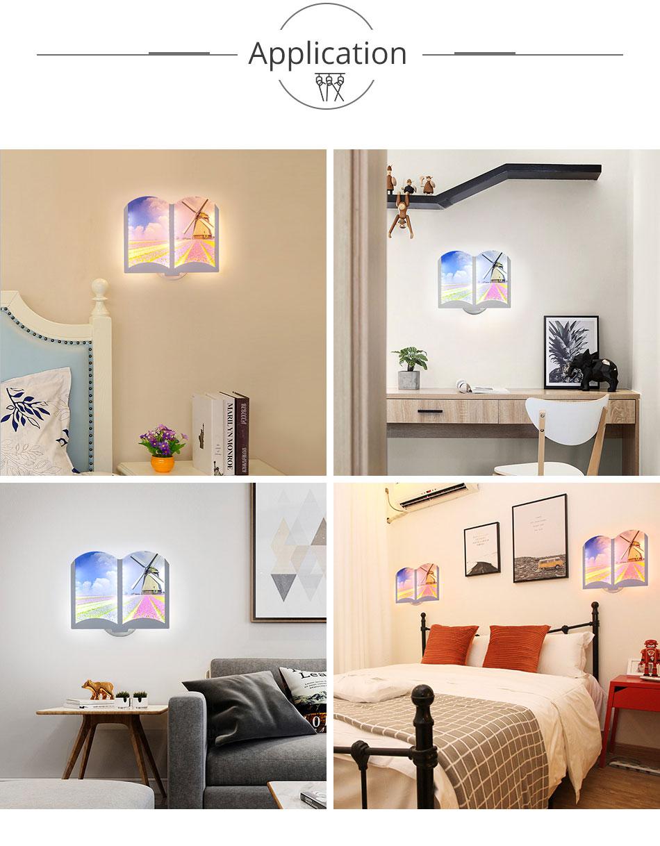 165-240V AC LED Wall Light 12W 80PCS Interior Night Light Bedroom Lighting Modern Wall Fixtures Hotel Kitchen Living Room Lamp (3)