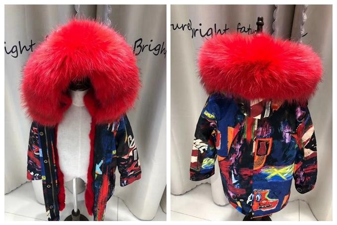 child winter real fur parkas coat (28)