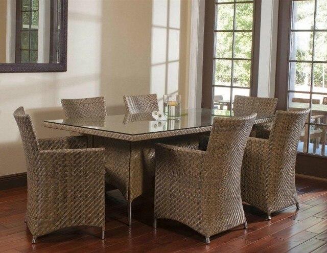 Sigma all Weather muebles de mimbre al aire libre mesa y sillas de ...