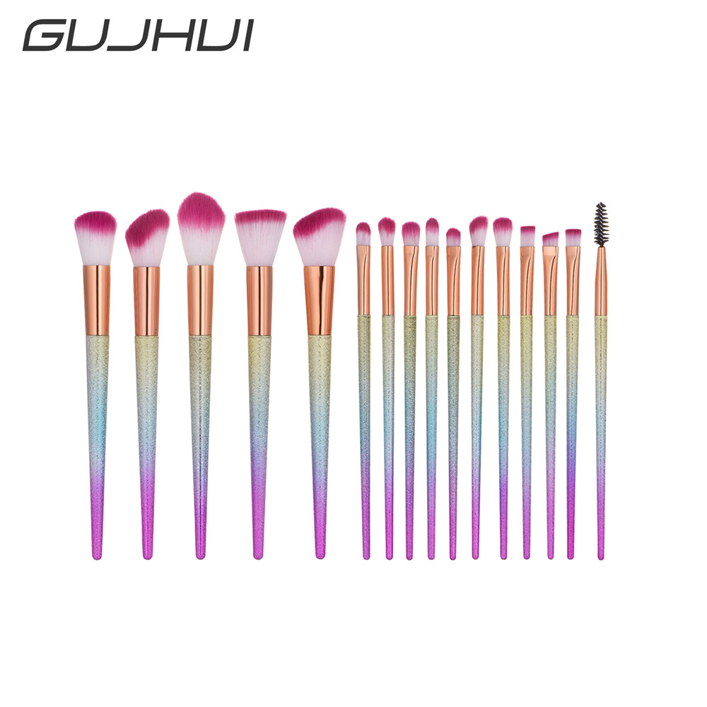 Best Deal New 16pcs Professional Make Up Brush Set Natural Super Soft Hair Studio Beauty Artist Makeup Brushes j deal 16