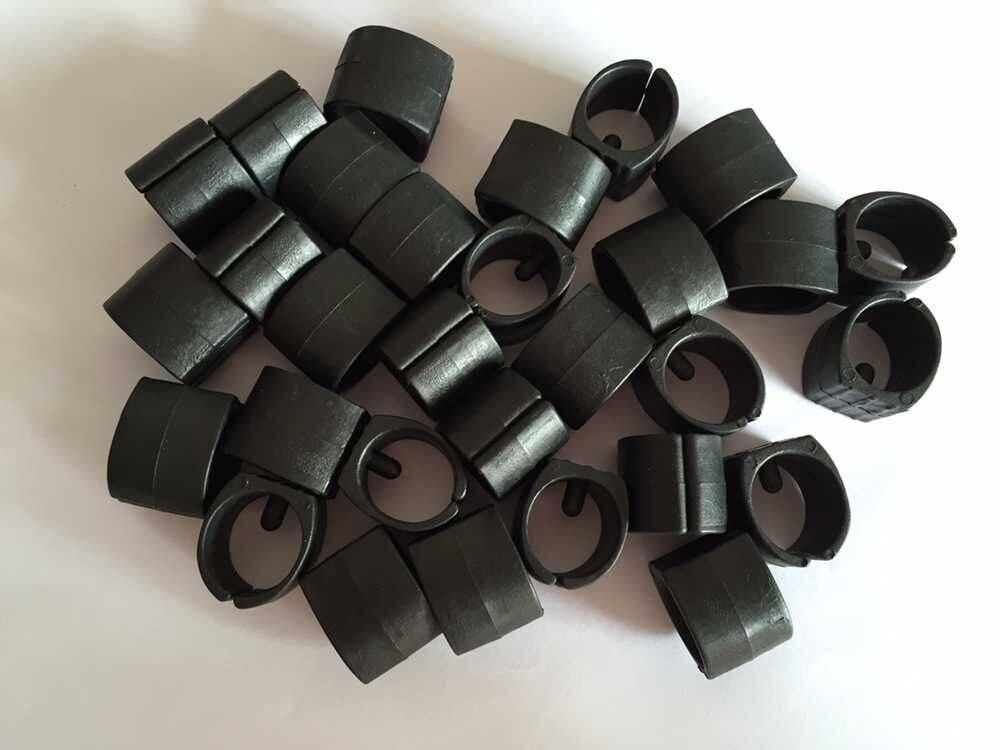 30Pcs Black Plastic Fit Pipe Dia 22mm 25mm Round Base U Shape Furniture Chair Floor Glide