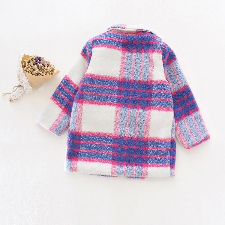 buy popular 58a81 bd794 US $22.71 5% OFF Mädchen Herbst Winter wollmantel Neue 2016 Mode Baby  Mädchen Wolle blazer Mantel Jacke Kinder Outwear romantische lila  trenchcoat in ...