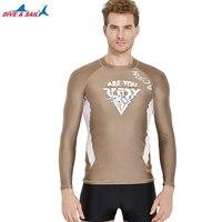 Men's Rash UV Sun Surfing Swim Shirt UPF50+ Gurads Long Sleeve Rashguard Top Basic Skins Compression & Base Layer For Wetsuits