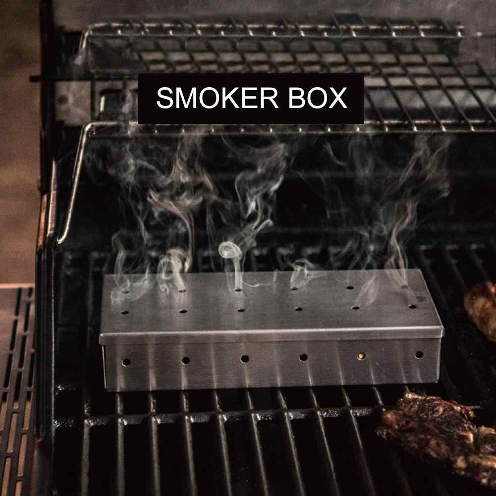 official attractive price temperament shoes BBQ Grill Hot Smoking Mesh Tube Smoke Generator Stainless Steel Cube Smoker  Wood Pellet Kitchen Outdoors Camping Barbecue Tools4