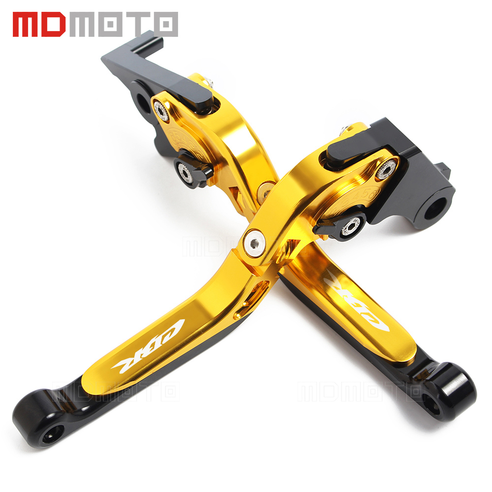 Gold Motorcycle CNC aluminum Adjustable brake clutch levers For Honda  CBR600 F2 F3 F4 F4I CBR 600 CBR900RR CBR 900RR CBR 900 RR