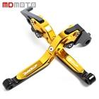 Gold Motorcycle CNC aluminum Adjustable brake clutch levers For Honda CBR600 F2 F3 F4 F4I CBR 600 CBR900RR CBR 900RR CBR 900 RR