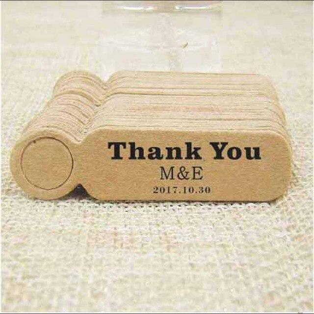 Bien connu Personnalisé logo papier de mariage nom tag kraft biscuits/bonbons  FJ74
