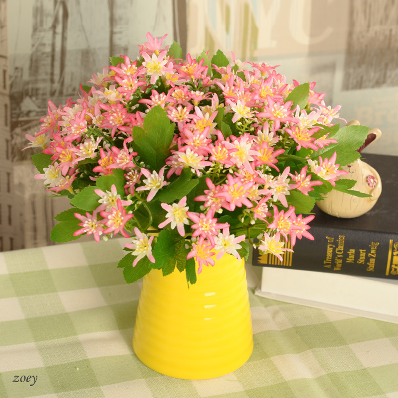 5 branches artificial <font><b>silk</b></font> <font><b>spider</b></font> chrysanthemum flowers used for home school decor balcony Wedding basket wreath accessory