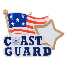 American Coast Guard Polyresin Hanging Personalized Christmas Tree Ornaments For Holiday New Year Gifts Home Decoration