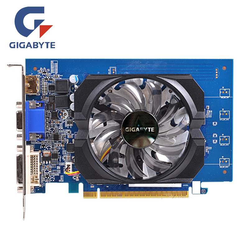 GIGABYTE GT730 2GB D5 Video Card GV-N730D5-2GI 64Bit GDDR5 Graphics Cards for nVIDIA Geforce GT 730 D5 HDMI Dvi Used VGA Cards видеокарта gigabyte gv n730d5 2gi 902 мгц 5000 мгц 2 гб 64 бит gddr5
