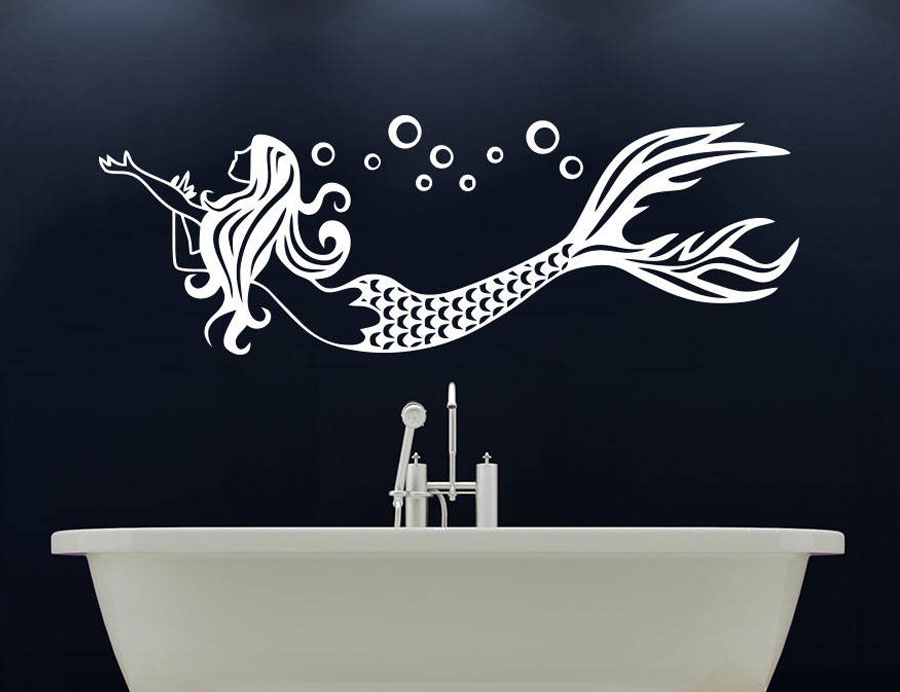 mermaid wall decal nymph girl sea animal ocean nautical decor vinyl