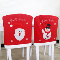Christmas Pattern Woven Chair Covers Christmas Snowman Santa Claus Christmas Decoration Chair Decor Christmas Gift