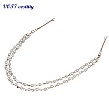 VOT7 vestitiy 2017 fashion Women Handmade Pearl Head Chain Jewelry Headband Headpiece Hair Band Oct 11