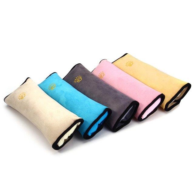 5 Colors 1Pcs Children Car Seat Belts Soft Headrest Cushion Neck Pillow Shoulder Pad Baby Protective Belts for Vehicle Seatbelt
