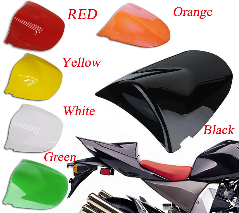 Motorcycle Rear Seat Cover Cowl Fairing For Kawasaki ZX6R 2003 2004 Z750 Z1000 03 04 05 06 Black Green Yellow Orange White Red for ktm 390 duke motorcycle leather pillon passenger rear seat black color