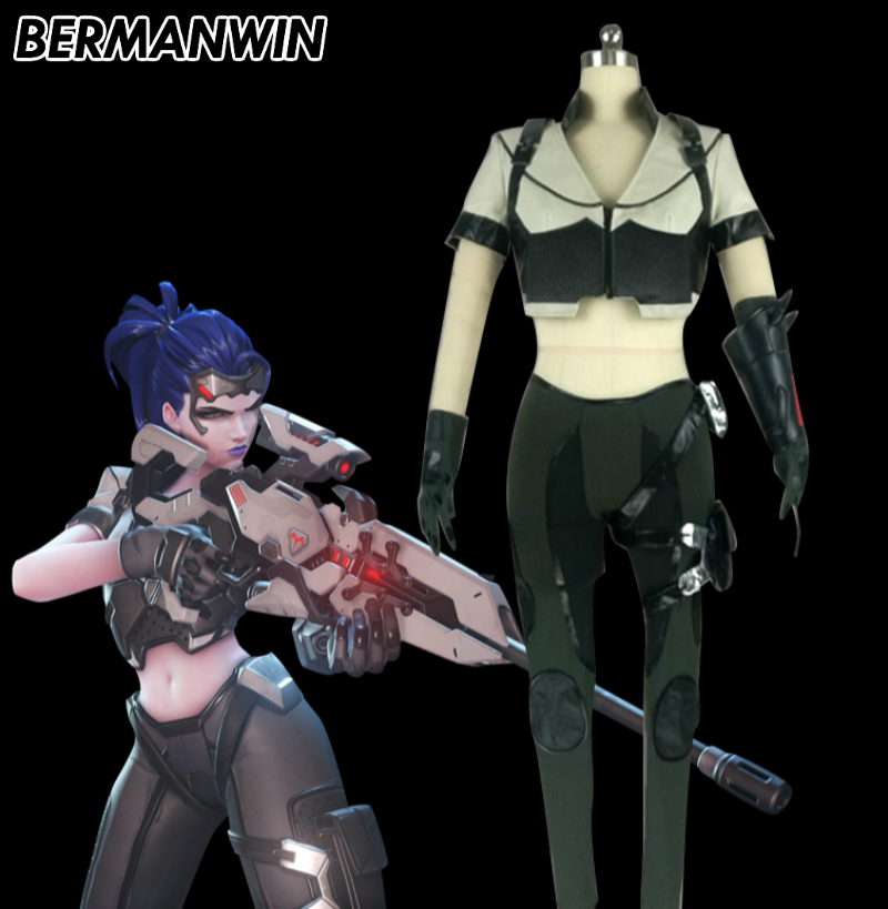 BERMANWIN High Quality OW WidowMaker Talon Costume Adult Women Halloween Cosplay Costume