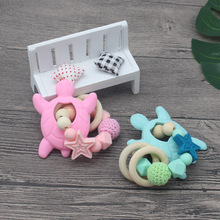 Baby Silicone Teethers Tortoise Cute baby teething silicone teethers beads pacifier flowers things for