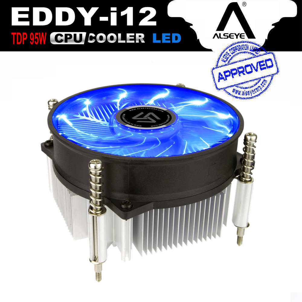 ALSEYE CPU Heatsink with 90mm LED CPU Fan, TDP 95W 0.23A 2200RPM CPU Cooler for LGA 1150/1151/1155/AM2/AM2+/AM3/AM3+/AM4 thermalright le grand macho rt computer coolers amd intel cpu heatsink radiatorlga 775 2011 1366 am3 am4 fm2 fm1 coolers fan