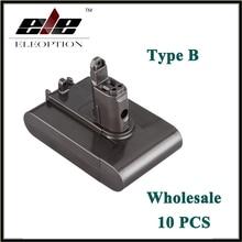Wholesale 10x  Eleoption Replacement Power Tool Battery 22.2V 2.0Ah 2000mah Li-ion Type B for Dyson DC31 / DC34/DC35/DC44 /DC 45