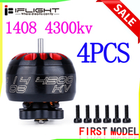 4Pcs iFlight XING 1408 4300KV Brushless Motor Supports 2 4S with 1.5MM Thin Shaft For RC DIY FPV Racing Drone Model Parts
