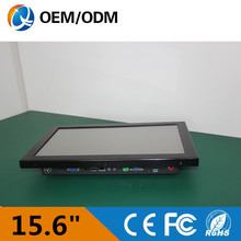 15.6 inch industrial computer touch screen resolution 1366×768 all in one PC with Intel D525 1.8GHz tablet PC