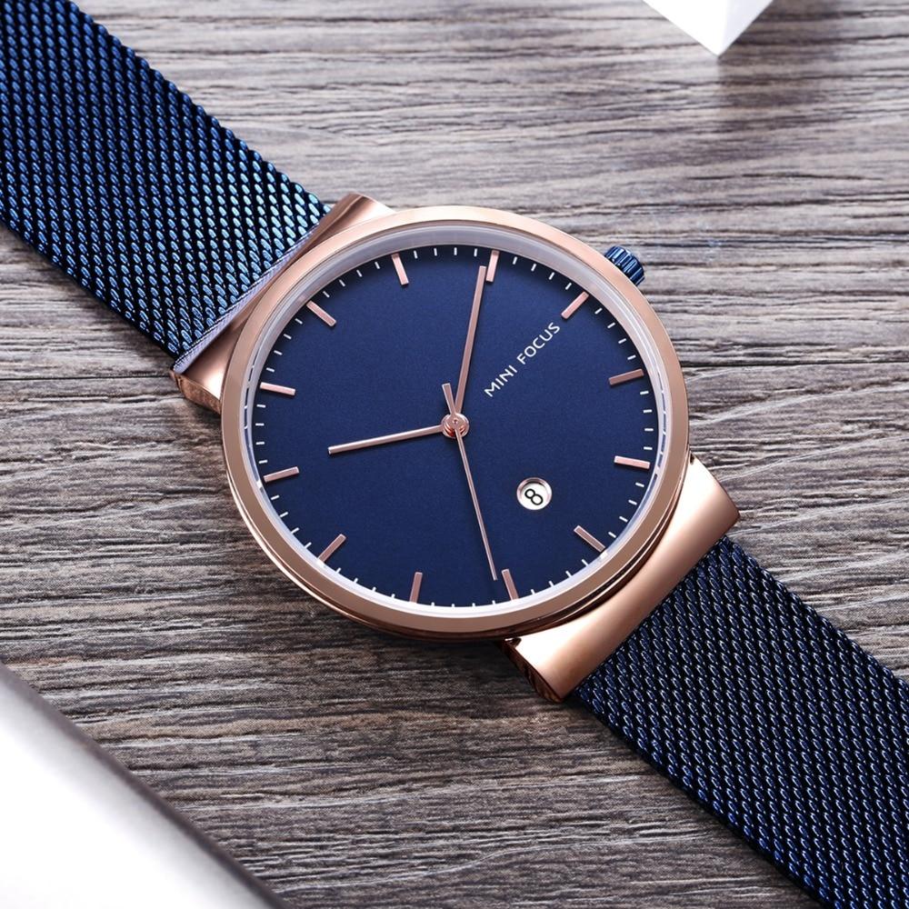 Hot Sale Minifocus Classic Dress Quartz Clock Ultra Thin Mesh Strap Calendar Display Waterproof Minimalist Mens Watches Top Brand Luxury Selling Well All Over The World Men's Watches