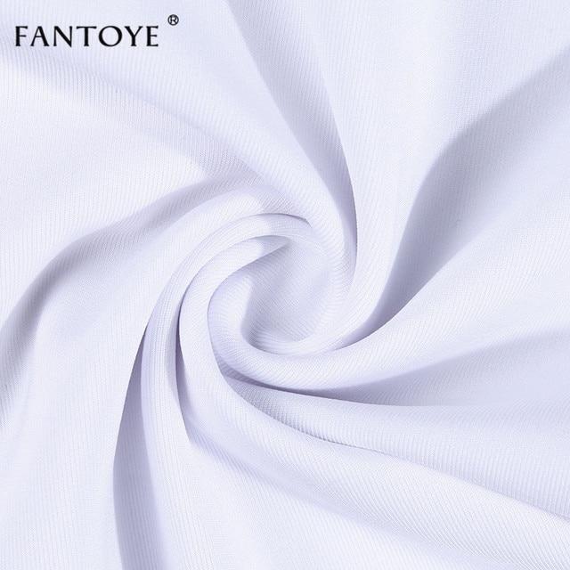 Fantoye Summer Metal Chain Spaghetti strap Dress For Women White Backless Bodycon Dress Women Clubwear Party Dress Vestidos 5