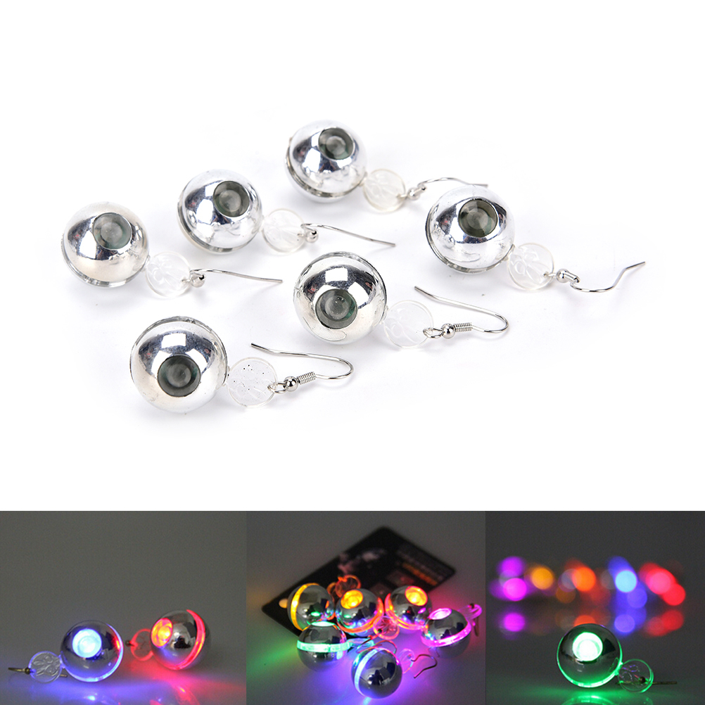 1 Pcs. The Charm Of The LEDs Light Up To Crown A Glowing Crystal Stainless Ear Drops Ear Earring Jewelry Hot Sale