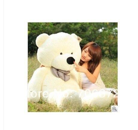 New stuffed white teddy bear Plush 120 cm Doll 47 inch Toy gift wb8413 the lovely bow bear doll teddy bear hug bear plush toy doll birthday gift blue bear about 120cm