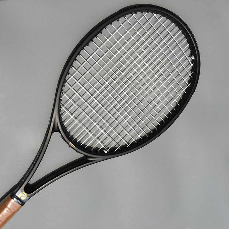 (2 pcs/lot) 2017 ZARSIA NEW High quality Tennis Racquets 100% carbon 315g 97sq.in tennis rackets Full black 41/4,43/8,41/2